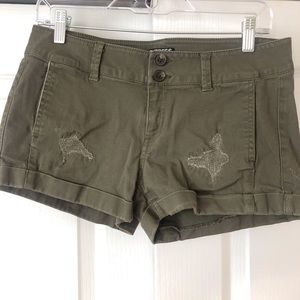Army Green Express Jean shorts